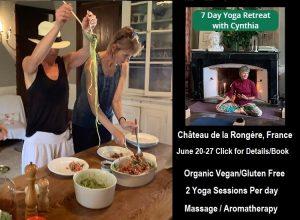 Chateau de Vaudezert Yoga Retreat with Cynthia McCabe