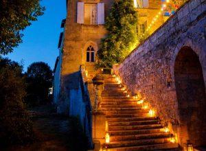 Chateau Lagorce at Night