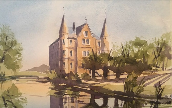 Chateau de la Motte Husson by Frank Walters