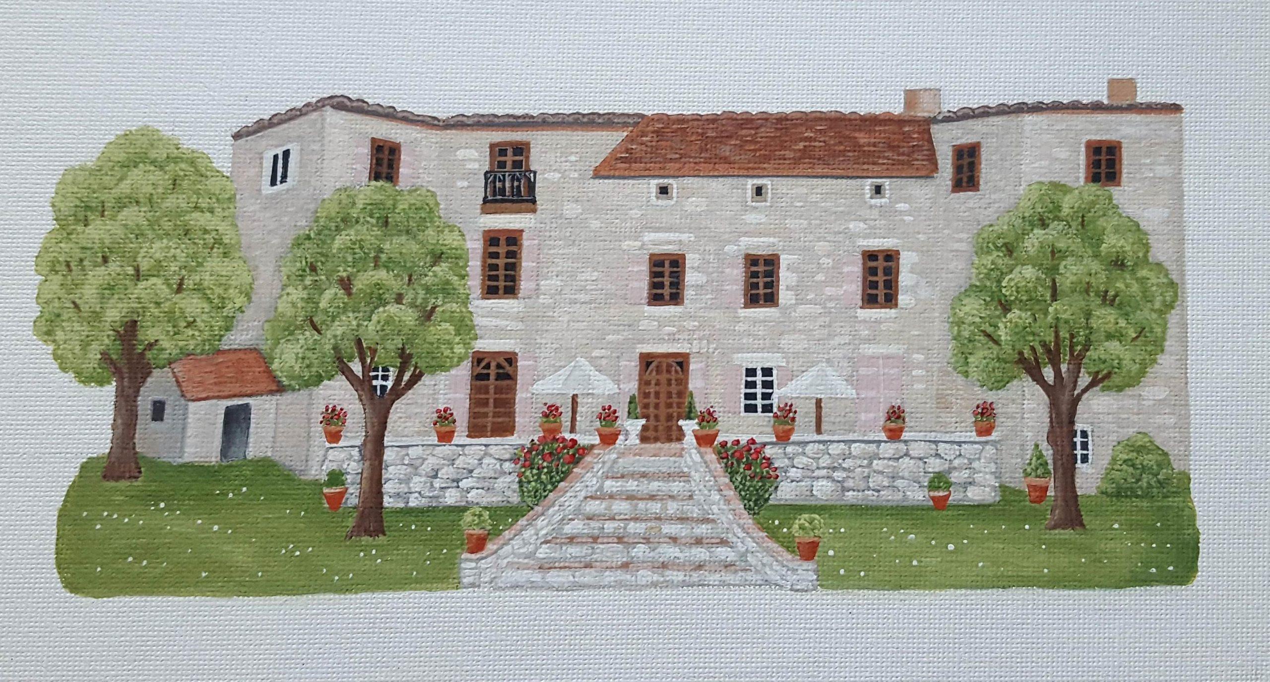 Chateau de Brametourte Courtesy of Artist Sheila Roper