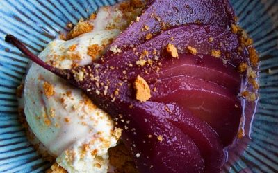 Weekend Recipe : Pears Poached in Spiced Red Wine Courtesy of Chateau de Vaudezert