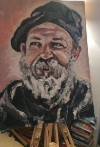 Dick Strawbridge by artist Claire Warbeck