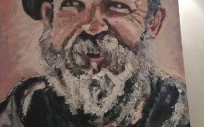 Dick Strawbridge Portrait by Artist Claire Warbeck
